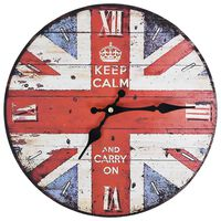 vidaXL Vintage Wall Clock UK 30 cm