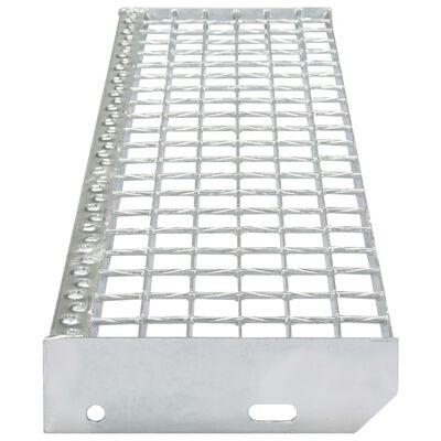 vidaXL Stair Treads 4 pcs Forge-welded Galvanised Steel 700x240 mm