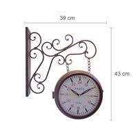 Walplus Vintage Iron Garden Wall Clock