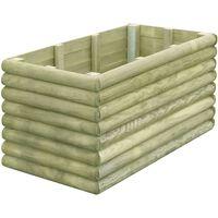 vidaXL Garden Raised Bed 106x56x48 cm Impregnated Pinewood