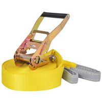 vidaXL Slackline 15 m x 50 mm 150 kg Yellow