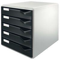 Leitz Drawer Cabinet 5 Drawers Black