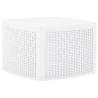 vidaXL Side Table White 54x54x36.5 cm Plastic