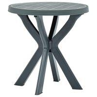 vidaXL Bistro Table Green Ø70 cm Plastic