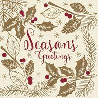 Swantex Seasons Greetings Swansoft Christmas Napkins 40cm - 10x50