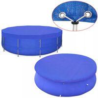 vidaXL Pool Cover PE Round 460 cm 90 g/m²
