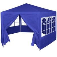 vidaXL Marquee with 6 Side Walls Blue 2x2 m