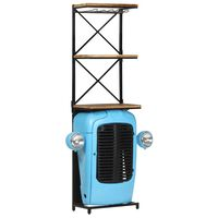 vidaXL Tractor Wine Cabinet Blue 49x31x170 cm Solid Mango Wood