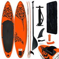 vidaXL Inflatable Stand Up Paddleboard Set 320x76x15 cm Orange