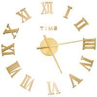 vidaXL 3D Wall Clock Modern Design Gold 100 cm XXL