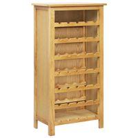 vidaXL Wine Cabinet 56x32x110 cm Solid Oak Wood