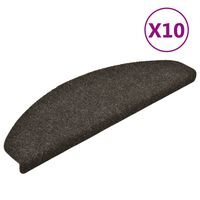 vidaXL Self-adhesive Stair Mats 10pcs Light Brown 65x21x4cm Needle Punch