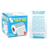 Things To Do While You Poo Brain Teaser Novelty Toilet Paper, One Roll