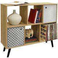 RETRO - Open Sideboard Cube Shelving / LP Vinyl Storage - 2 Doors
