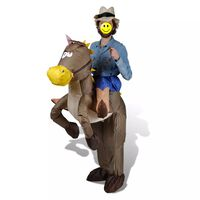 vidaXL Inflatable Cowboy and Horse Costume