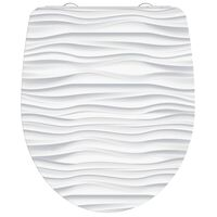 SCHÜTTE Duroplast High Gloss Toilet Seat with Soft-Close WHITE WAVE White