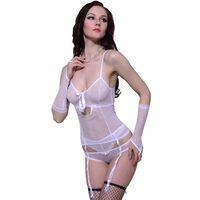 vidaXL 3 pcs Sexy White Lingerie Set Size L / XL