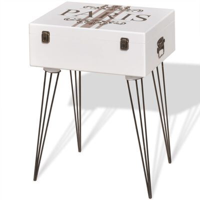 vidaXL Side Cabinet 40x30x57 cm White