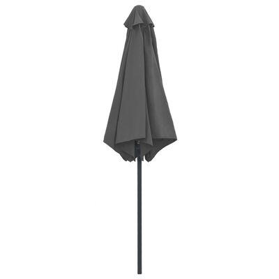 vidaXL Outdoor Parasol with Aluminium Pole 270x246 cm Anthracite