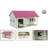 Kids Globe Horse Stable with 2 Boxes and Storage 1:32 Pink