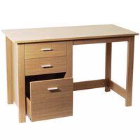 Home Office Storage Desk / Workstation - Oak