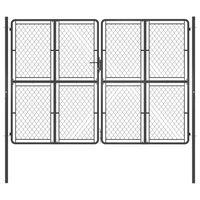 vidaXL Garden Gate Steel 300x200 cm Anthracite