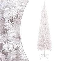 vidaXL Slim Christmas Tree White 240 cm