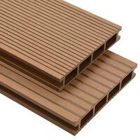vidaXL WPC Hollow Decking Boards with Accessories 40 m² 2.2 m Teak