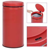 vidaXL Automatic Sensor Dustbin 70 L Carbon Steel Red