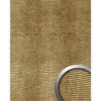 Wallface 19778-na Wall Panel Iguana Leather Look Gold